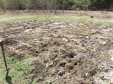 有機肥料を散布